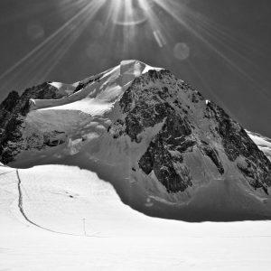 Foto Zwart-Wit Top Mont Blanc Chamonix Alpen